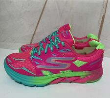 Skechers Go Run Strada Women's Running Shoes Size 5 Hot Pink/Green