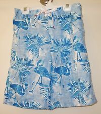 New ~ Red Camel Tropical Leaves & Flamingos Board Shorts Swim Trunk~ Large 16/18