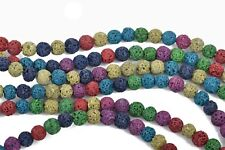 6mm LAVA Beads, Mixed Colors, Aromatherapy Beads, Perfume Oil Beads, glv0026