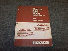 1991 Mazda 626 Sedan & MX6 Coupe Electrical Wiring Diagram Manual DX LX LE 2.2L