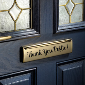 Thank you postie Letter Box Door Mirror Window Sticker Label/ Decal Vinyl