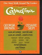One More Walk Around the Garden 1979 Carmelina Sheet Music