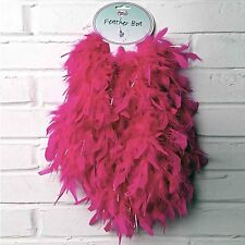 Kids Girls Hot Pink Sparkly Feather Boa Fancy Dress Accessories - Lucy Locket