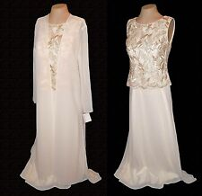 New 2-PC Suit: Dress Duster, Michaelangelo, Wedding Gold-Embroidery MSRP-$198. 8