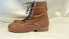WOMENS Brown Tommy Hilfiger Western Laceup Boots Size 8 Leather
