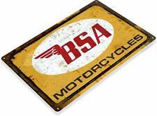 Bsa Motorcycles British Rustic Retro Garage Tin Metal Sign