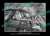 OLD POSTCARD SIZE PHOTO WEST THURROCK ESSEX ENGLAND THE CEMENT WORKS c1951