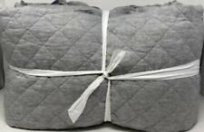 New ListingPottery Barn Belgian Flax Linen Diamond King Quilt ~ Flagstone Gray