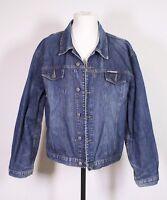 T32-9 Global Agency Herren Jeans Jacke Trucker Denim Western Jacket Gr. L blau