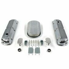"""SBF 15"""" Half Oval/Finned Engine Dress Up kitw/ Breathers (PCV) 289-351 rat"""