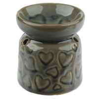 Small Brown Hearts Wax Warmer/Burner & pack of 10 Handpoured Scented Melts