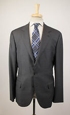 New BRUNELLO CUCINELLI Gray Twill Wool 3/2 Button Suit Size 54/44 R $4315