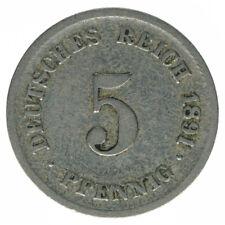 Deutsches Reich 5 Pfennig 1891 F A50451