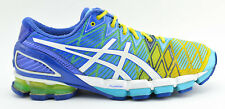 WOMENS ASICS GEL KINSEI 5 RUNNING SHOES SIZE 11 BLUE YELLOW WHITE GREEN T3E9Y