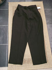 "BNWT    should fit  size 12 e    BROWN  CROPPED  PULL ON  TROUSERS     24.5"" leg"