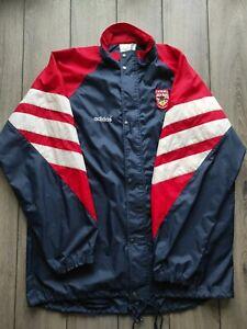 Men's Vintage Adidas Arsenal 1990-1993 Navy Blue Rain Jacket Size XXL
