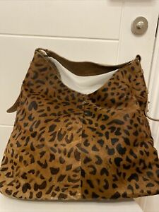Gorgeous Dayaday Extra Large 100% Leather Tote Bag Handbag Animal Hair Brown