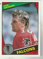 FREE SHIPPING-MINT-1984 Topps #212 Steve Bartkowski Falcons PLUS BONUS CARDS