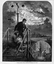 SIGNAL SERVICE STATION METEOROLOGY WEATHER INSTRUMENTS 1874 METEOROLOGISTS STORM