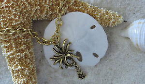 Palm Tree Anklet Ankle Bracelet 24 Karat Gold Plate Vacation Island Beach