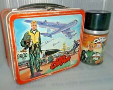 RARE 1959 Steve Canyon Air Force Metal Lunch Box W/ Glass Thermos TV SHOW Comic