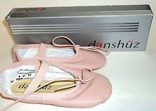 DANSHUZ Girls Youth Child BALLET Slippers Shoes PINK Size 8M New With Box