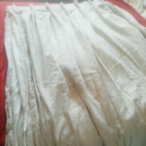 """100% Irish Linen very heavy  Lined Curtains 81"""" Long x 148""""Wide total"""
