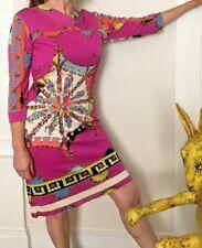 Vintage Emilio Pucci Hot Pink Paisley Dress - Genuine, 1980s - Amazing Condition