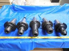 Set Of 5 Cat50 34 Id Solid End Mill Tool Holder Parlec Lyndex Nikken 75