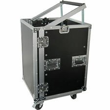 "19"" 16U Equipment Rack With Wheels-Patch Panel Mount Case-PA DJ Mixer Amp Audio"