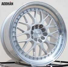 AODHAN AH02 17x8 5x100 / 5x114.3 +35 Silver Machined Lip (PAIR) wheels