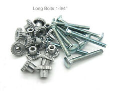 "Pet Carrier Crate Kennel Zinc Metal Fasteners Nuts & Bolts 1-3/4""  (16 LONG PAK)"