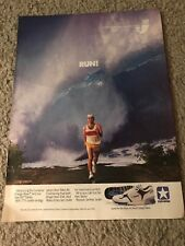 Vintage 1988 CONVERSE CONS ENERGY WAVE Poster Print Ad Running Shoes 1980s RARE