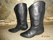 Womens Mobility Sport Sz 9M Black All Leather Cowboy Boots