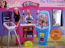 BARBIE Game Center PLAY 'N PRIZE ARCADE Playset NEW SEALED