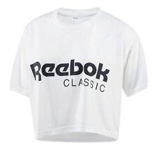 Camisas y tops de mujer camisetas cortas blancos de poliéster
