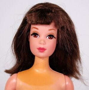 Vintage Brunette Francie Reproduction Nude Doll Repro Wrist Tag Barbie