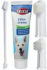 2561 Trixie Dog Hygiene Set - Double Ended Toothbrush - Finger Brush Toothpaste
