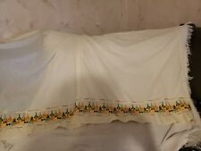 Vintage Curtains KENNETH Curtain Co. Embroidered Kitchen  66 X 36
