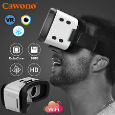 Cawono ALL-in-One 3D VR Headset Glasses Virtual Reality Wifi 16G Bluetooth 360°