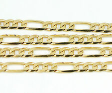 "10k Yellow Gold Figaro Chain Necklace 24""(new,11.80g)#2478e"