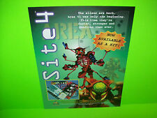Atari AREA 51 SITE 4 Kit Version Original 1998 NOS Video Arcade Game Sales Flyer