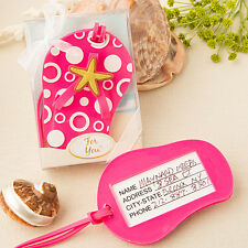 1 Pink Beach Themed Flip Flop Luggage Tag Wedding Favor Sandal Summer Gift Party