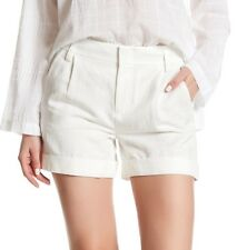 NWT $225 Vince Slouchy Rolled Cuff Short in White Size 8
