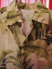 TOMMY BAHAMA HAWAIIAN SHIRT TROPICAL FLOWERS CAMP CASUAL!SIZE S !100%SILK!