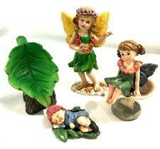 Miniature Garden Fairy Figures Statues 4pcs.