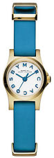 Marc Jacobs MBM1314 Henry Dinky White Dial Blue Leather Strap Women's Watch