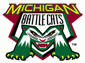Michigan Battle Cats 1995-2007 Minor Baseball Team Mens Polo XS-6XL, LT-4XLT New