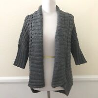 Express Womens Gray Sweater Size XSMALL Open Front Cardigan Chunky Knit Wool