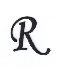 """MONOGRAM LETTERS - 1 1/4"""" BLACK LETTER """"R"""" - Iron On Embroidered Applique"""